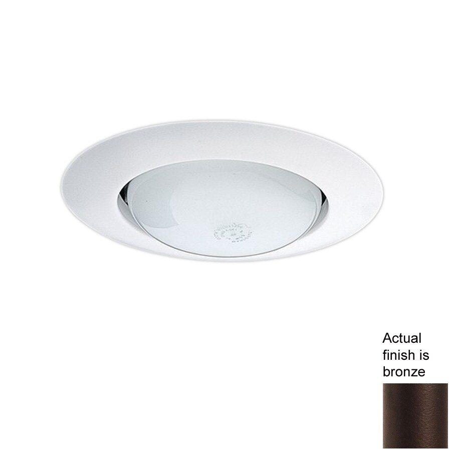 Nicor Lighting Bronze Open Recessed Light Trim (Fits Housing Diameter: 6-in)