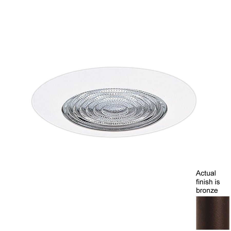 Recessed Lighting Housing For Shower : Nicor lighting bronze shower recessed light trim