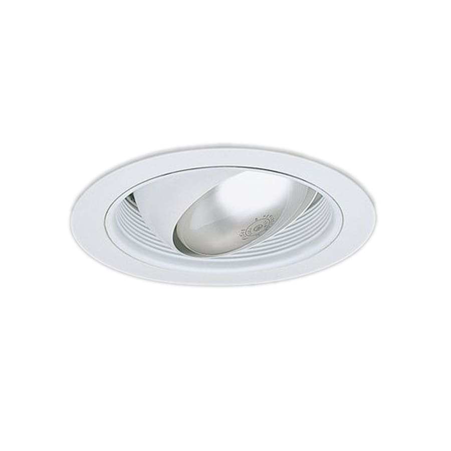 Shop Nicor Lighting White Eyeball Recessed Light Trim Fits Housing Diameter