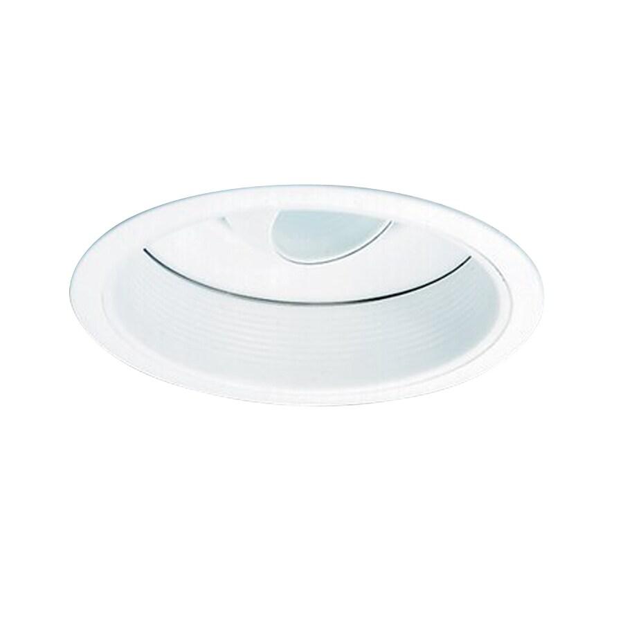 Nicor Lighting White Eyeball Recessed Light Trim (Fits Housing Diameter: 6-in)