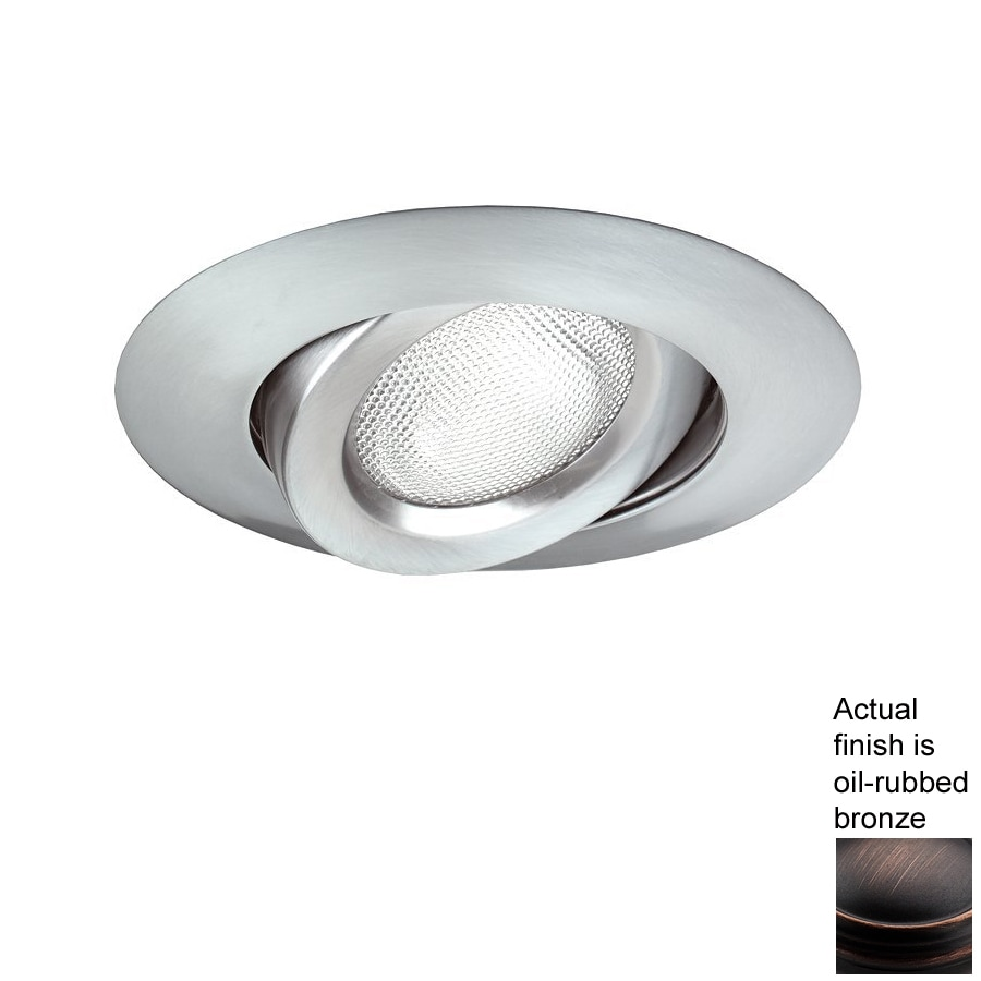 Nicor Lighting Oil-Rubbed Bronze Gimbal Recessed Light Trim (Fits Housing Diameter: 6-in)