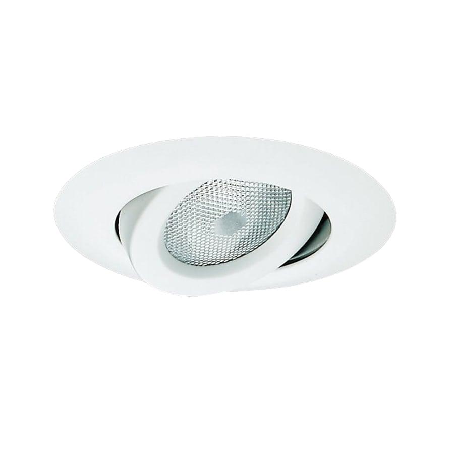 Shop nicor lighting white gimbal recessed light trim fits Recessed lighting trim