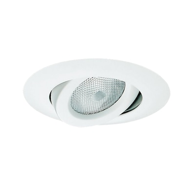 White Gimbal Recessed Light Trim Fits Housing Diameter 6 In