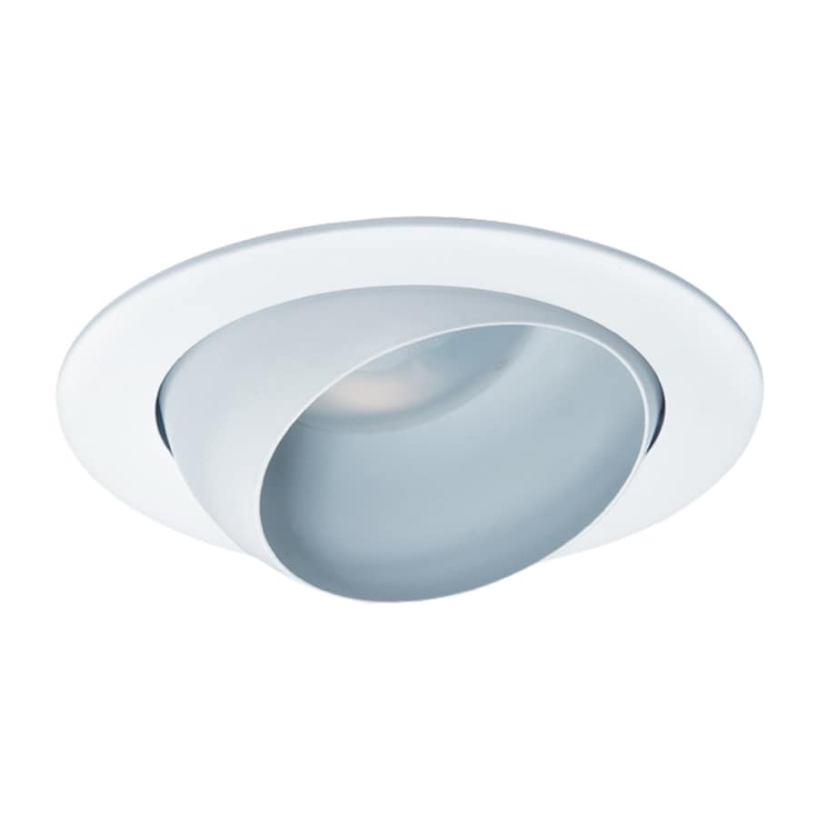 Nicor Lighting White Eyeball Recessed Light Trim (Fits Housing Diameter: 4-in)