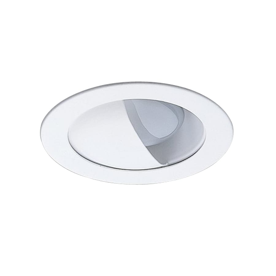 Recessed lighting placement wall wash : Nicor lighting white wall wash recessed light trim