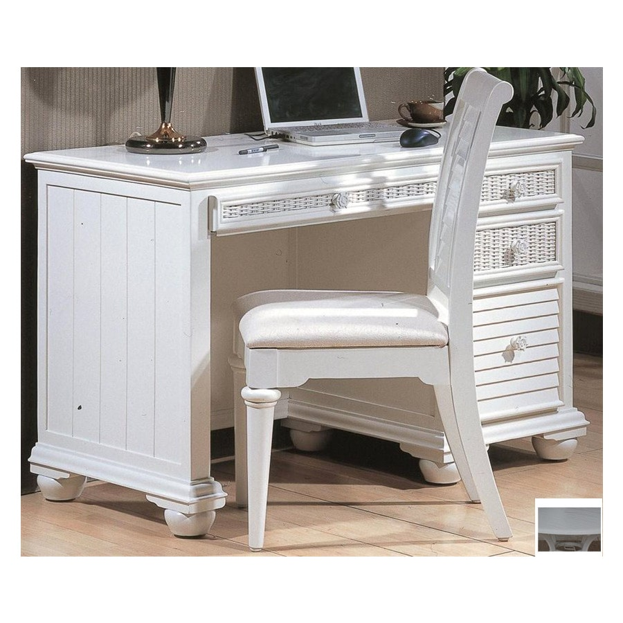 Hospitality Rattan Ships Wheel White Computer Desk At