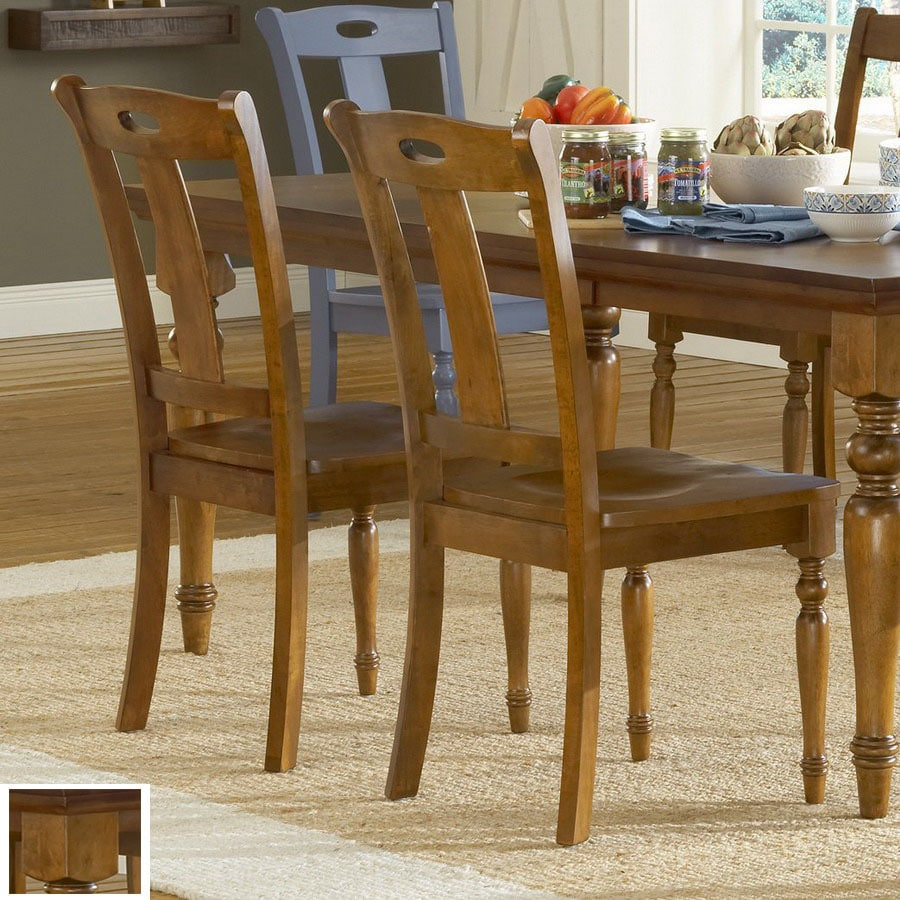 Shop Steve Silver Company Set of 2 Barbados Honey Oak Dining Chairs ...