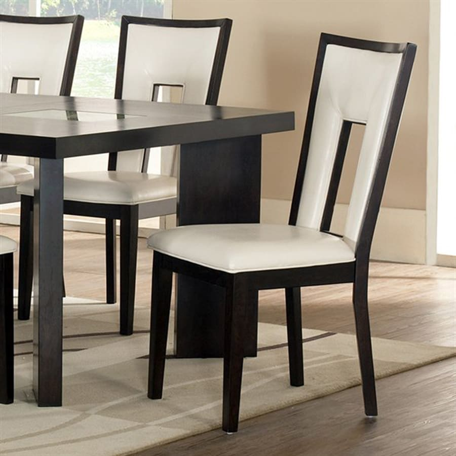 Steve Silver Company Set of 2 Delano Espresso Cherry Side Chairs