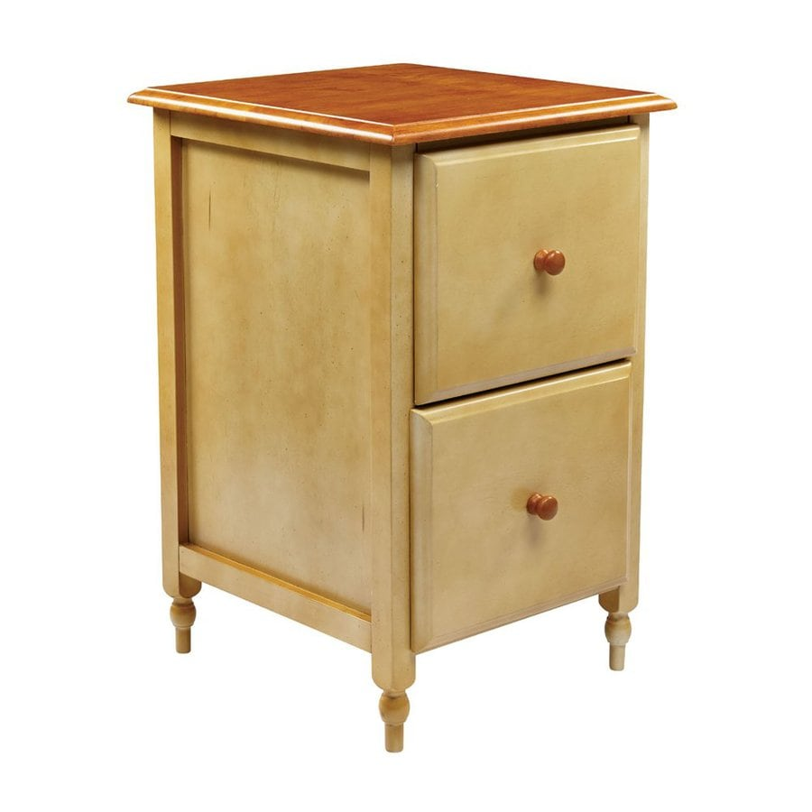 Office Star OSP Designs Antique Country Buttermilk/Cherry 2-Drawer File Cabinet