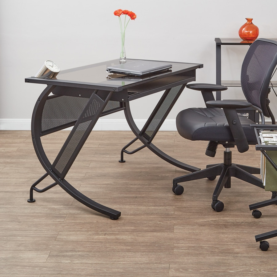 Office Star Horizon Black with Bronze Computer Desk