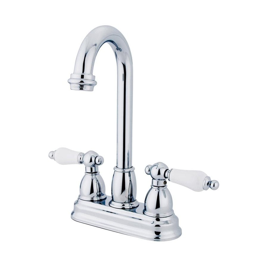 Elements of Design Chicago Chrome 2-Handle Deck Mount High-Arc Bar and Prep Faucet
