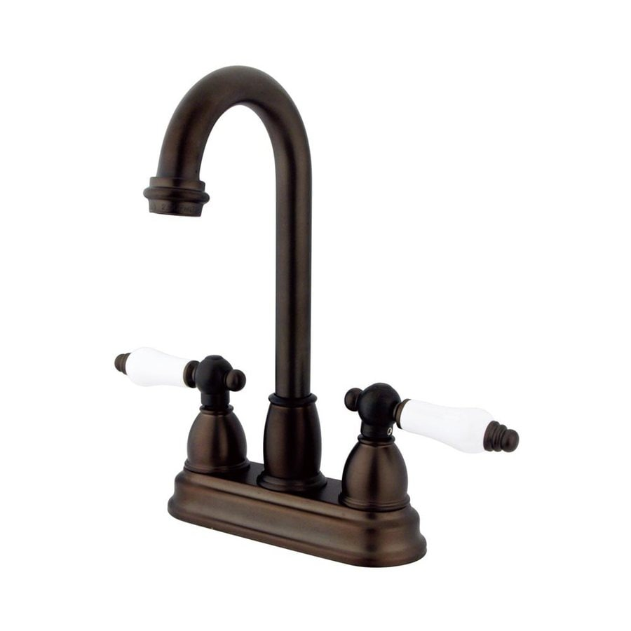 Elements of Design Chicago Oil-Rubbed Bronze 2-Porcelain Handle Bar and Prep Faucet