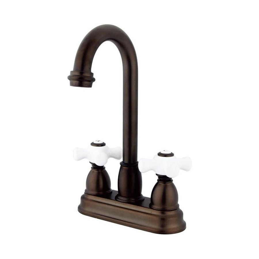 Elements of Design Chicago Oil-Rubbed Bronze 2-Handle Deck Mount High-Arc Bar and Prep Faucet