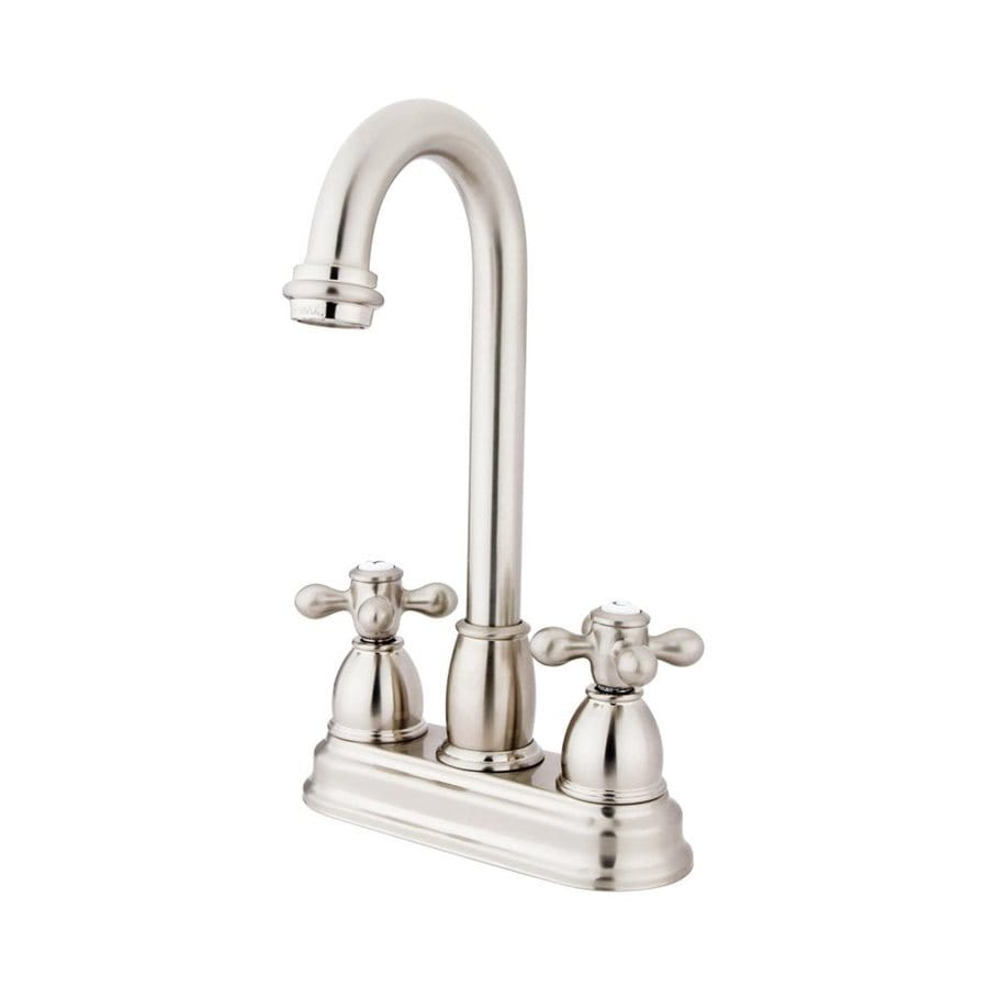 Elements of Design Chicago Satin Nickel 2-Handle Bar and Prep Faucet