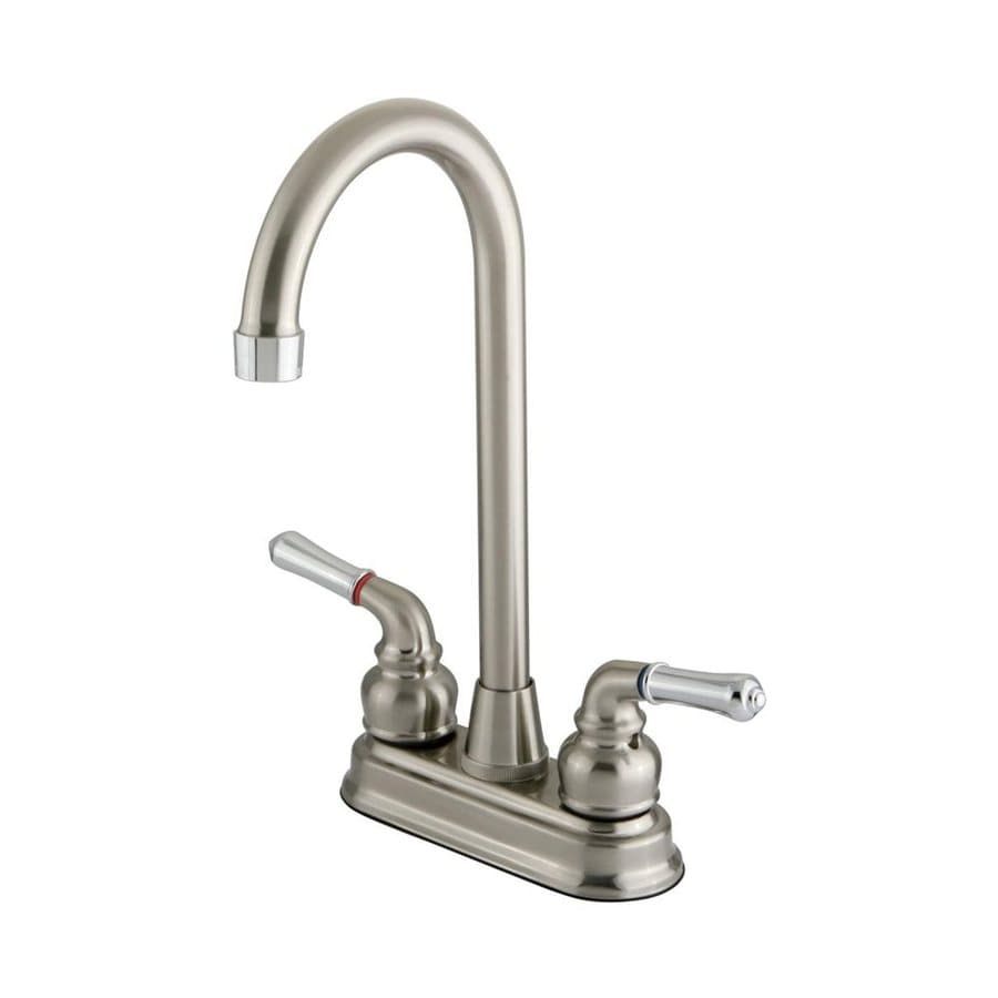 Elements of Design Magellan Satin Nickel/Chrome 2-Handle Bar and Prep Faucet