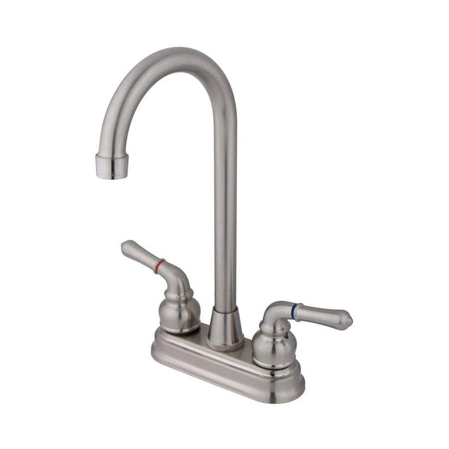 Elements of Design Magellan Satin Nickel 2-Handle Bar and Prep Faucet