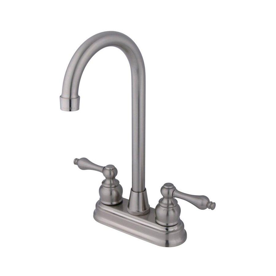 Elements of Design Magellan Satin Nickel 2-Handle Bar and Prep Faucet