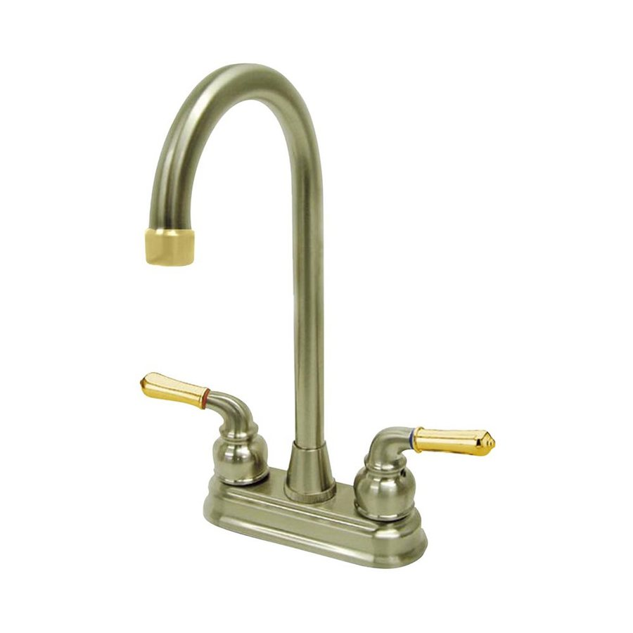 Elements of Design Magellan Polished Brass/Satin Nickel 2-Handle Bar Faucet