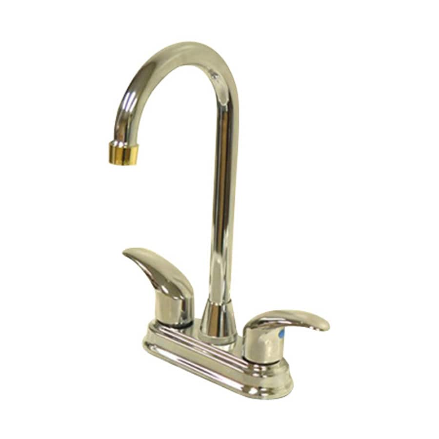 Elements of Design Daytona Chrome/Polished Brass 2-Handle Bar and Prep Faucet