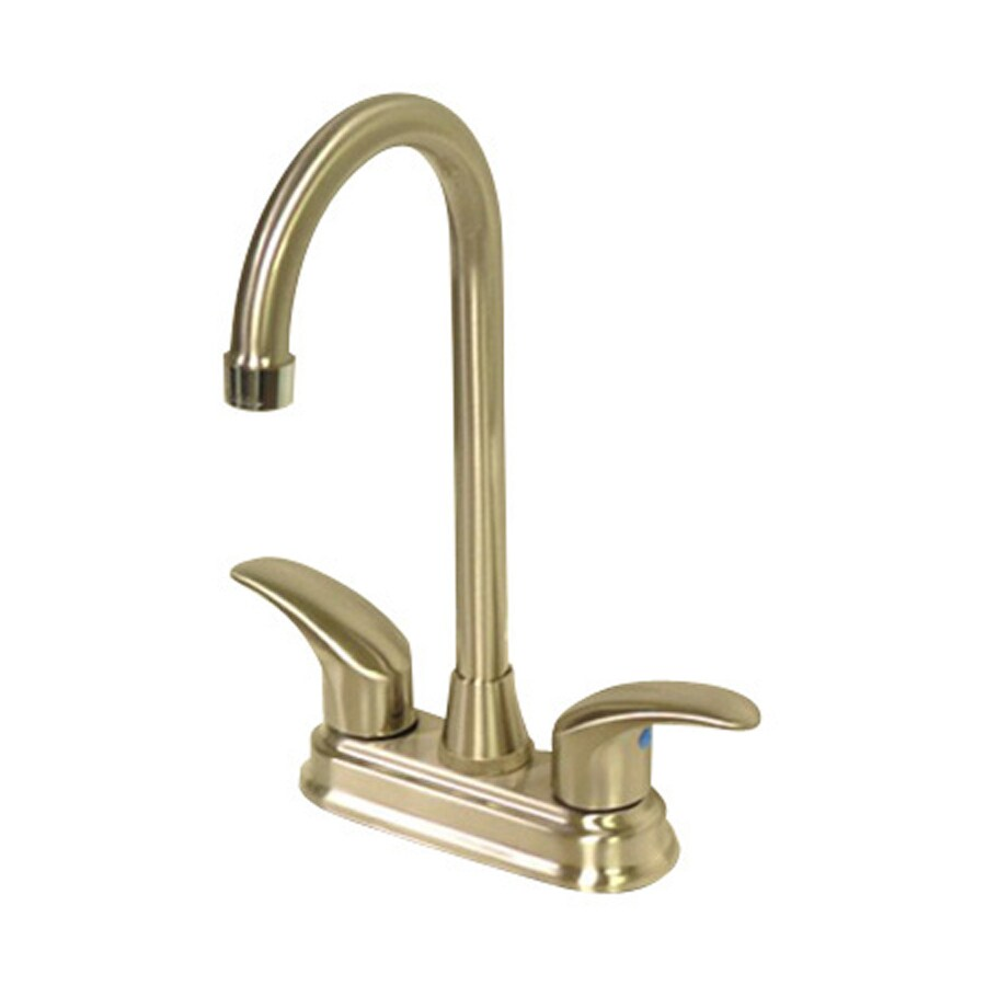 Elements of Design Daytona Satin Nickel/Chrome 2-Handle Bar and Prep Faucet