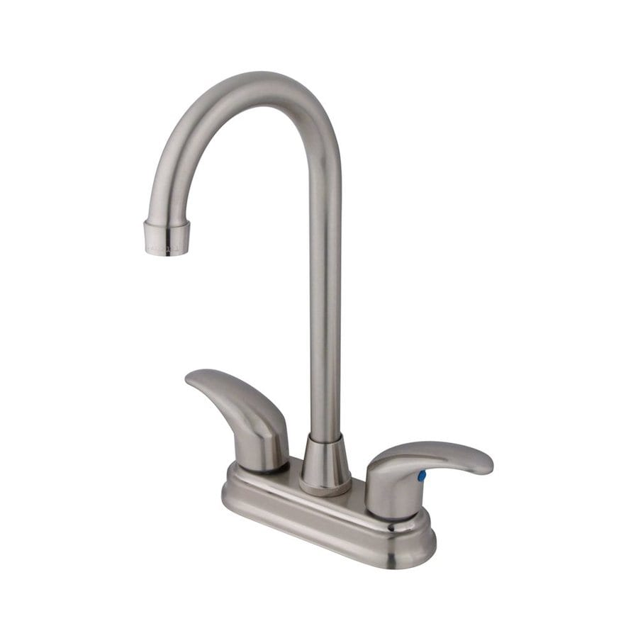 Elements of Design Daytona Satin Nickel 2-Handle Bar and Prep Faucet