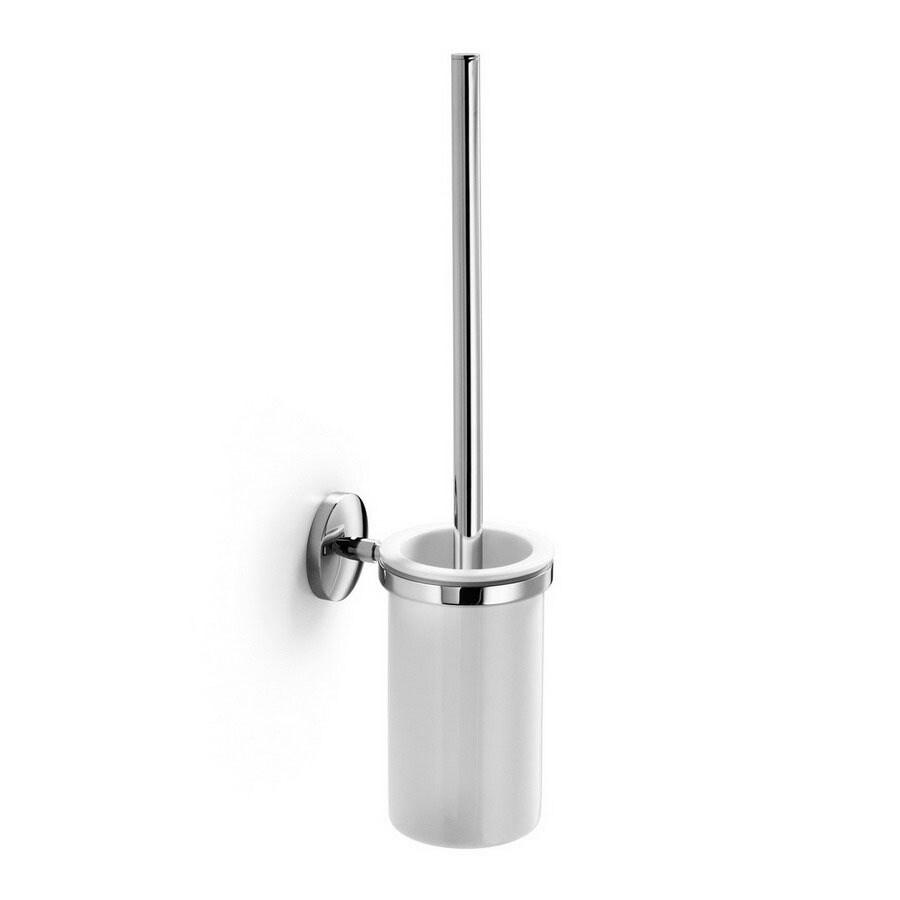 WS Bath Collections Noanta Polished Chrome Brass Toilet Brush Holder