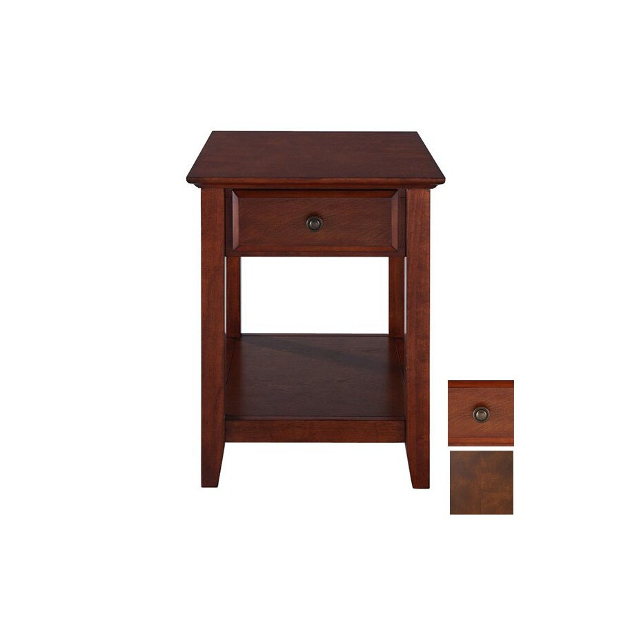 Crosley Furniture Vintage Mahogany Rectangular End Table