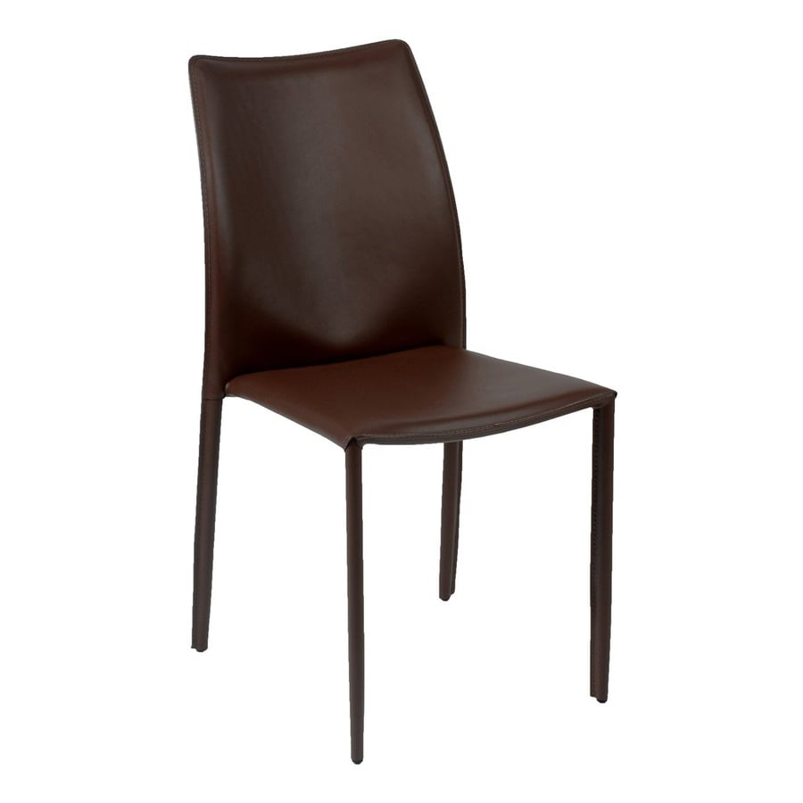 Eurostyle Set of 4 Dalia Dark Brown Stackable Side Chairs