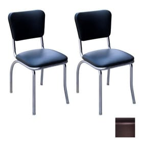 Richardson Seating 50s Retro Contemporary Black Side Chair