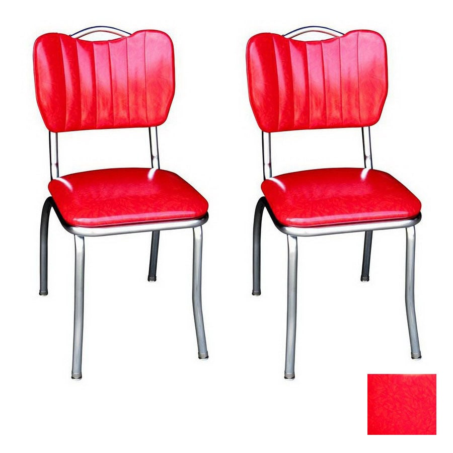 Rose Red Retro Chrome Chairs Home Decor Takcop Com
