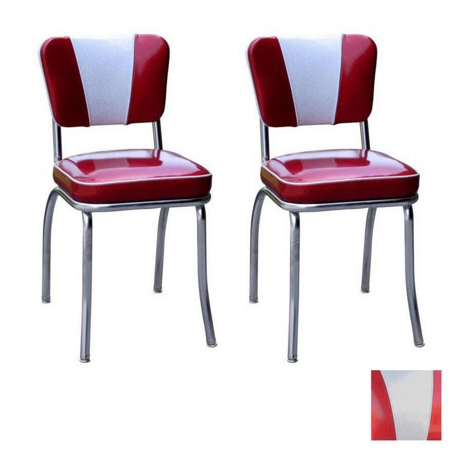 Richardson Seating 50s Retro Contemporary Zodiac Burgundy/Zodiac silver Side Chair  sc 1 st  Loweu0027s & Shop Richardson Seating 50s Retro Contemporary Zodiac Burgundy ...
