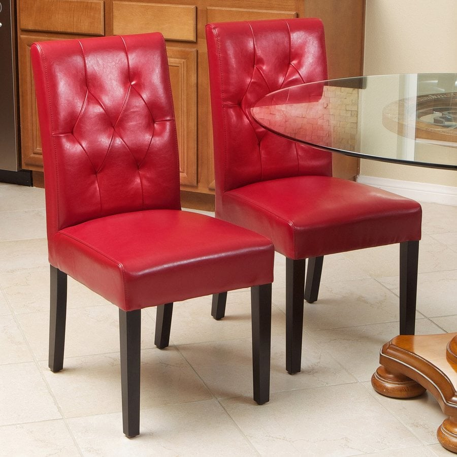 Best Selling Home Decor Set of 2 Gentry Red/Espresso Side Chair