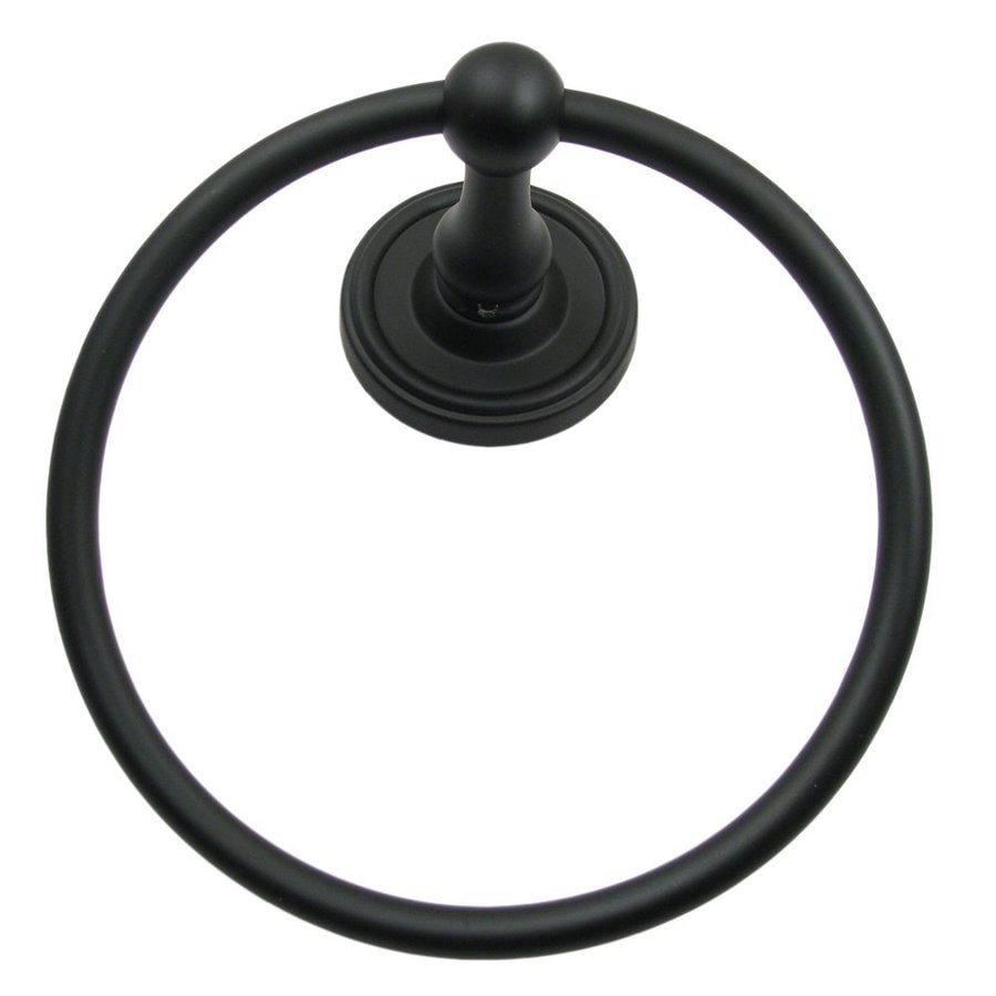Rusticware Midtowne Black Wall Mount Towel Ring