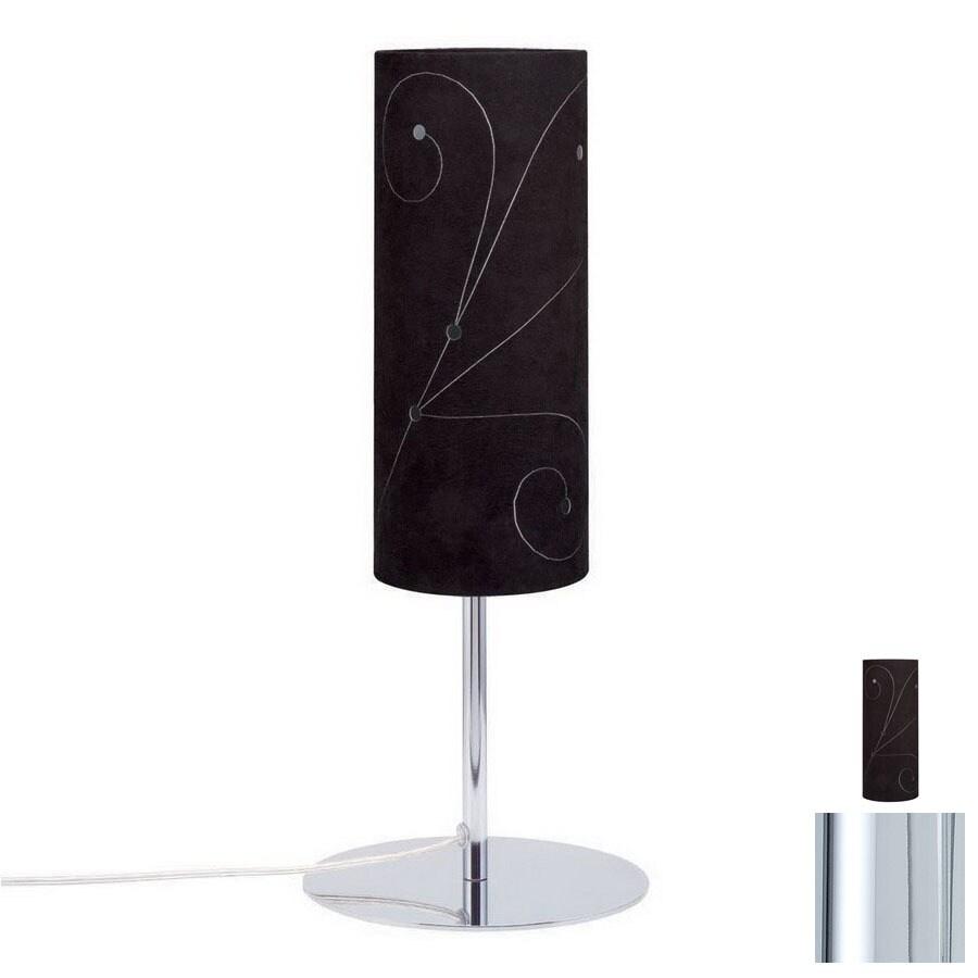 Paulmann 15-3/8-in Chrome Table Lamp with Fabric Shade