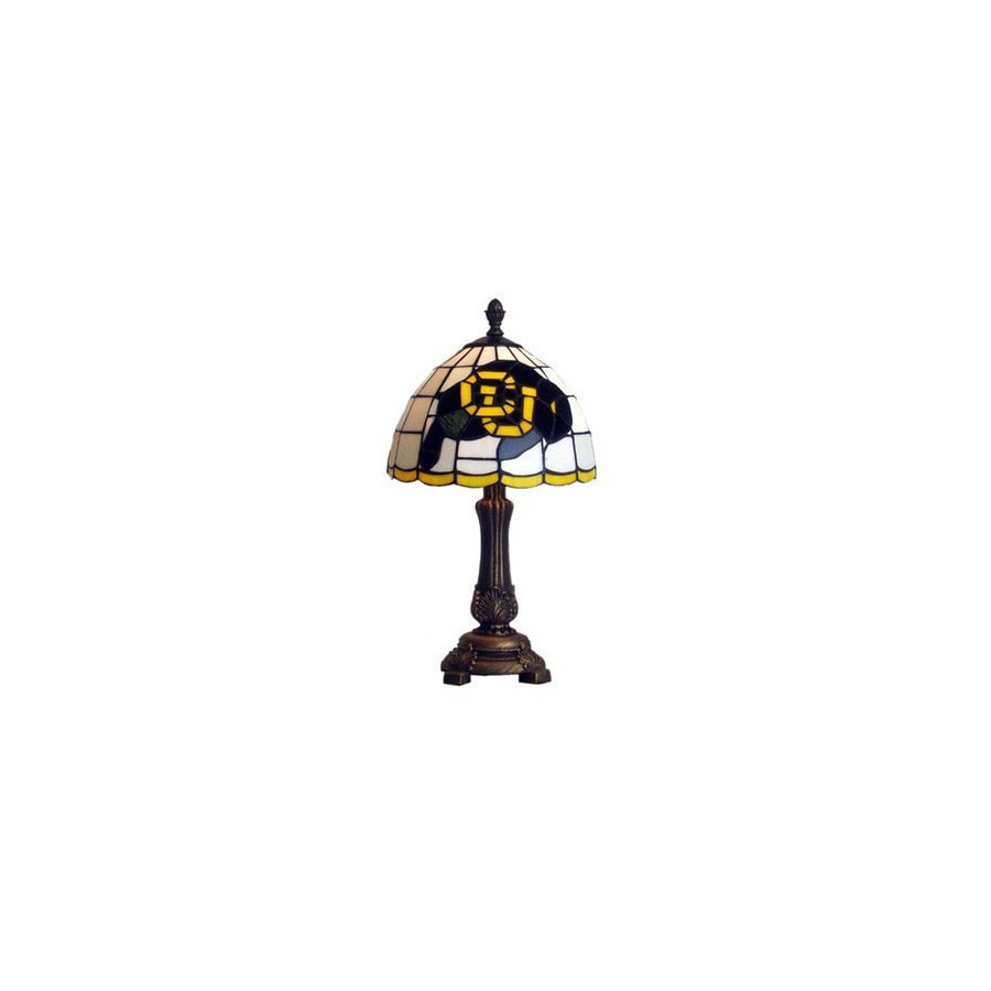 Traditions Artglass 16 In Antique Bronze Sports Table Lamp