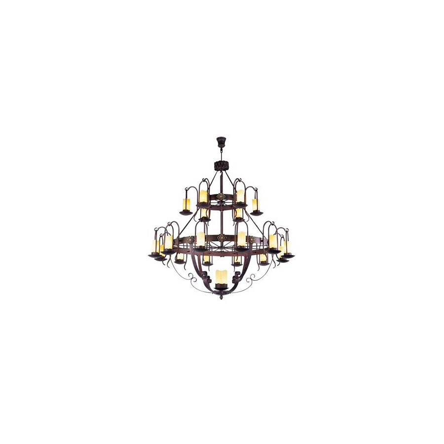 Shop Creative Creations 19-Light Andranik Rustic-Wrought Iron ...