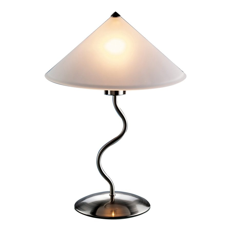 Shop lumisource doe li 19 in brushed metal electrical for Images of table lamps