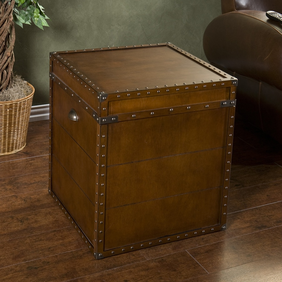Boston Loft Furnishings Steamer Walnut Composite Square End Table