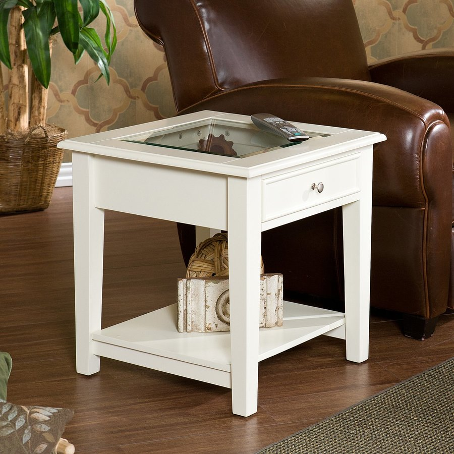 Boston Loft Furnishings Panorama White Square End Table
