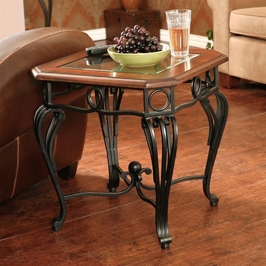 Boston Loft Furnishings Prentice Dark Cherry End Table