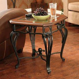 Boston Loft Furnishings Prentice Dark Cherry Square End Table