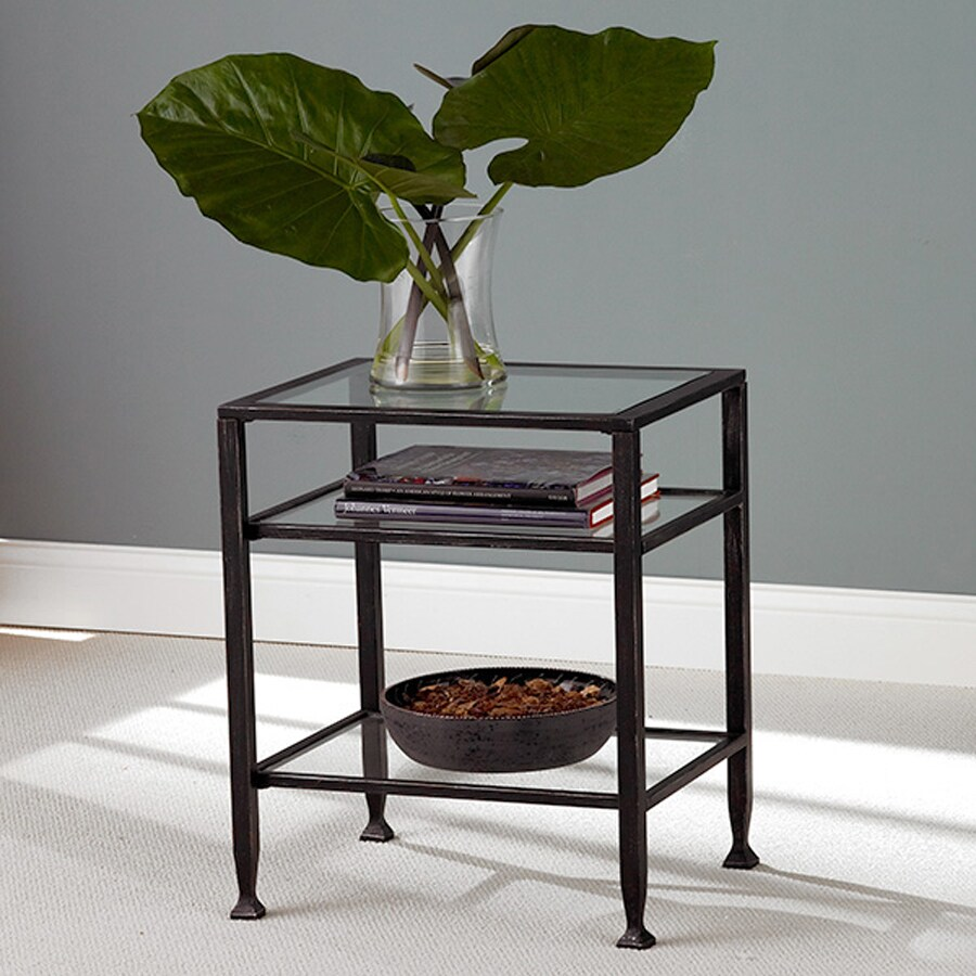 Boston Loft Furnishings Black Rectangular End Table