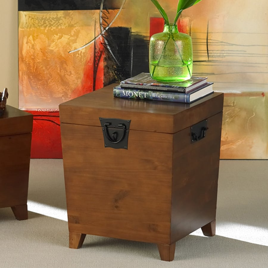 Boston Loft Furnishings Pyramid Mission Oak Pine Square End Table