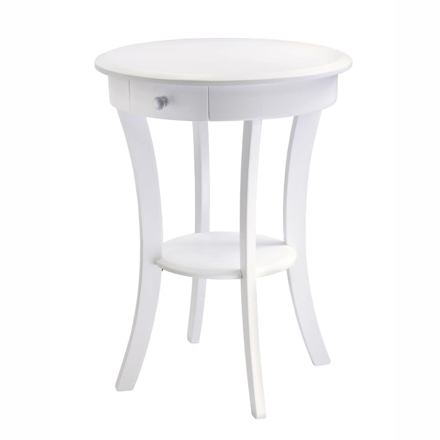 shop winsome wood white wood casual end table at