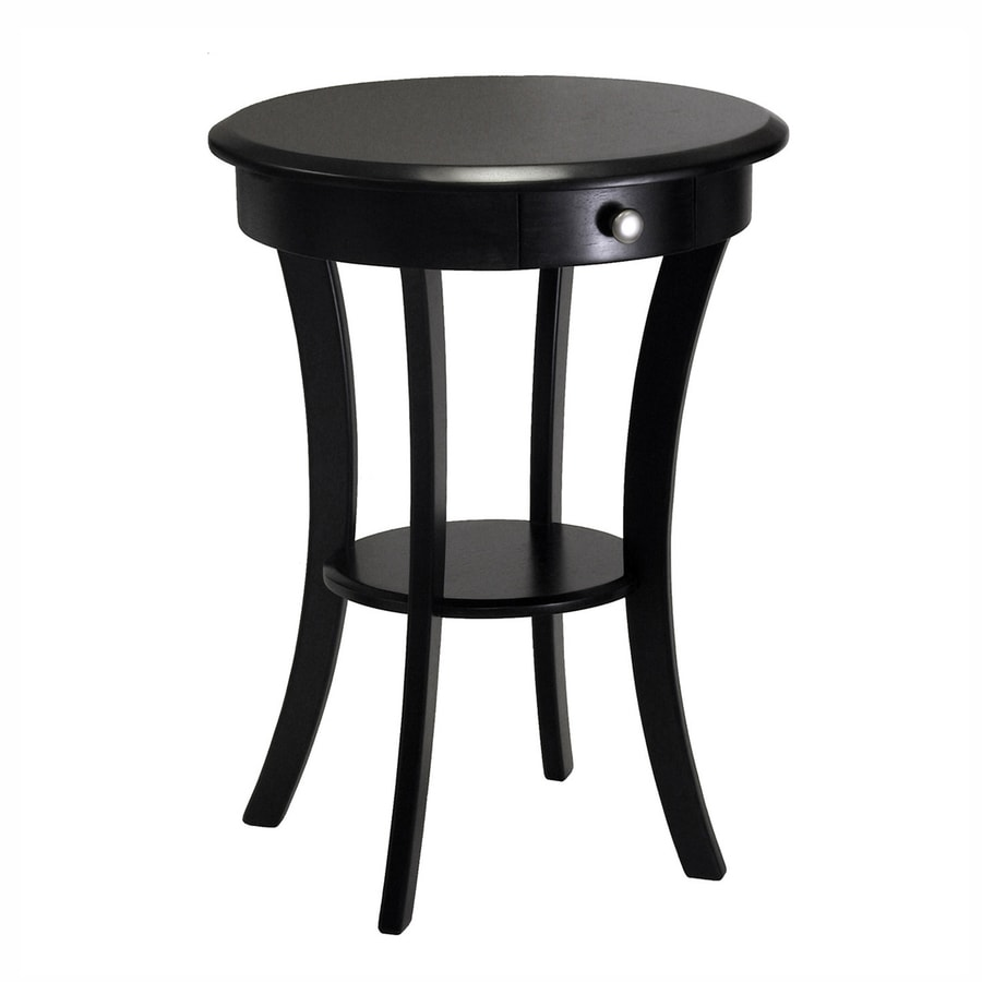 Winsome Wood Black Round End Table