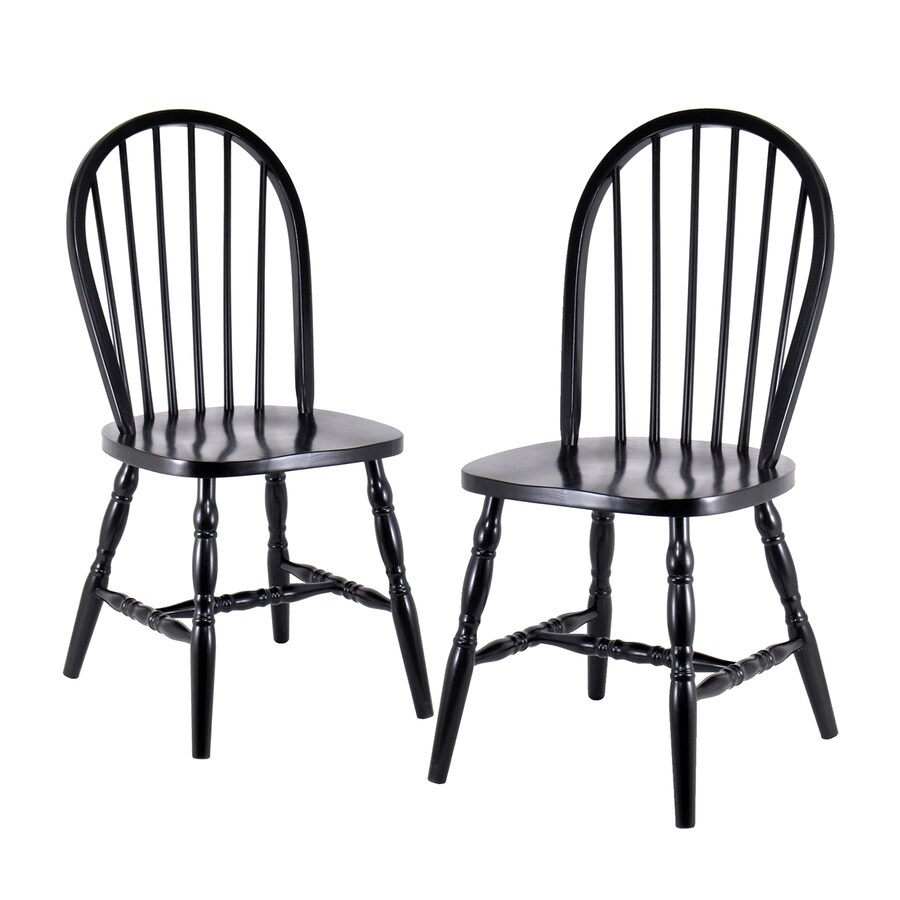 Winsome Wood Set of 2 Black Side Chairs
