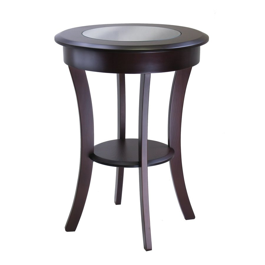 Winsome Wood Cassie Cappuccino Round End Table