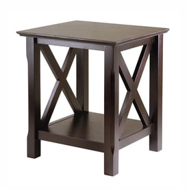 rectangle end table. Winsome Wood Xola Cappuccino Composite Mission/Shaker End Table Rectangle