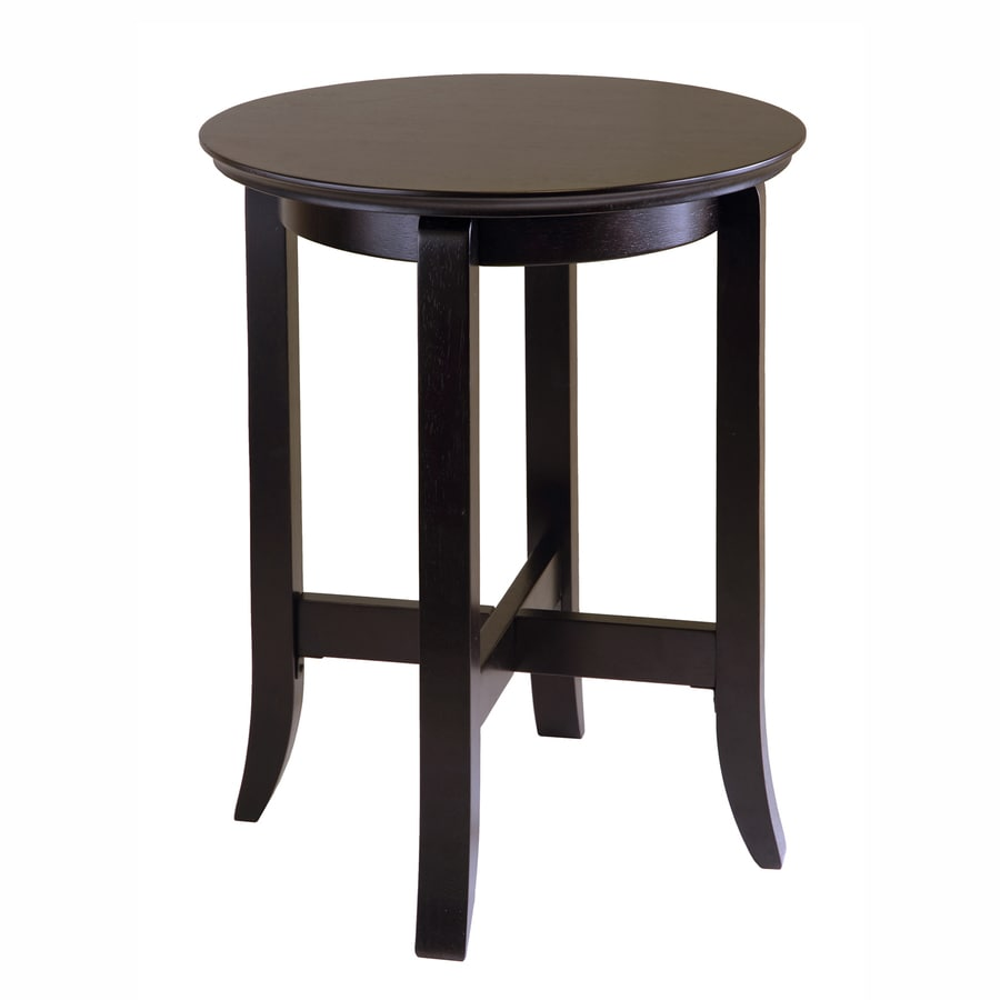 Winsome Wood Toby Dark Espresso Round End Table