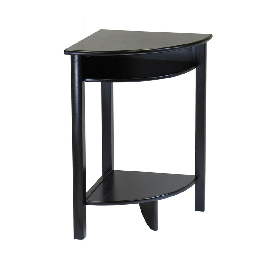 Shop Winsome Wood Liso Dark Espresso Wood Casual End Table At Lowescom - Black corner end table